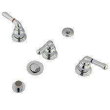 Magellan Three Handle Bidet Faucet
