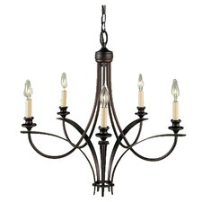 Boulevard 5-Light Candle-Style Chandelier