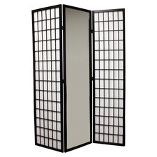 "70.25"" x 30"" Mirrored 3 Panel Room Divider"