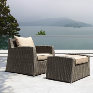 Hensler Armchair With Cushion And Ottoman Set