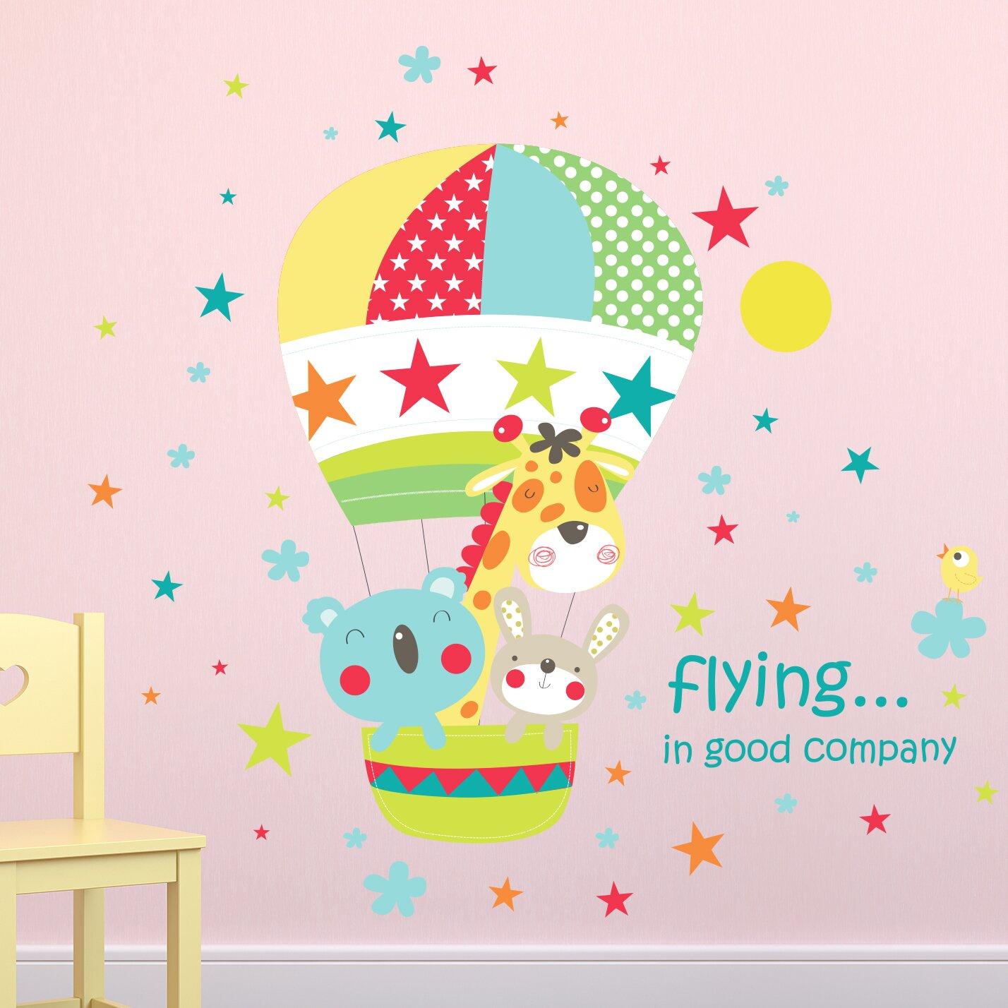 Sticker Wallpany  Best Friends Hot Air Balloon Ride Wall Decal