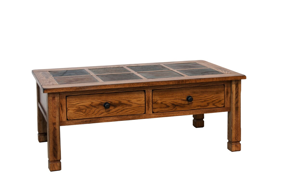 Loon Peak Fresno Coffee Table With Slate Top Reviews