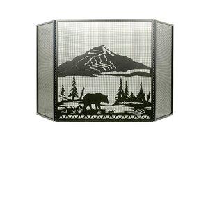 Bear Creek 3 Panel Fireplace Screen