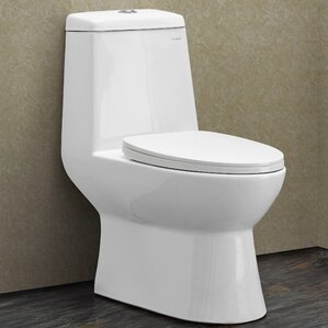 sublime 128 gpf dual flush elongated onepiece toilet