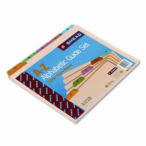 Alpha Recycled Top Tab File Guides, 25/Set
