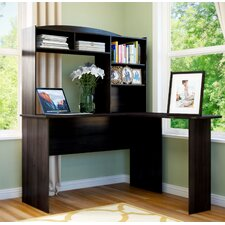 Modern L Shaped Desk With Hutch
