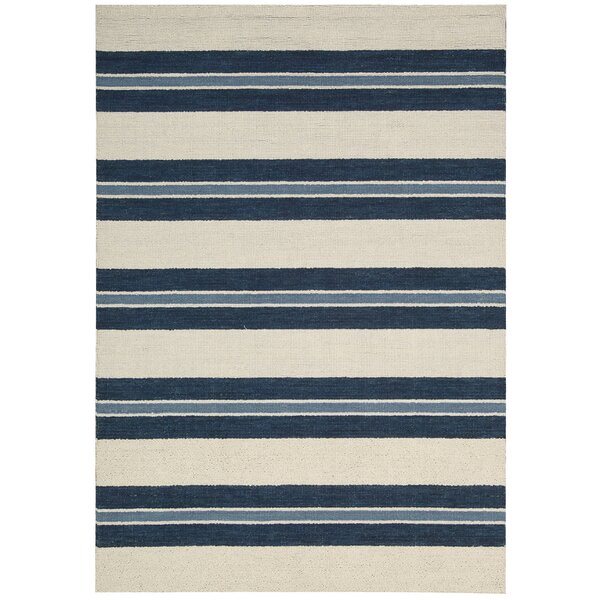 Barclay Butera Lifestyle Oxford Navy/Ivory Awning Stripe Area Rug U0026 Reviews  | Wayfair