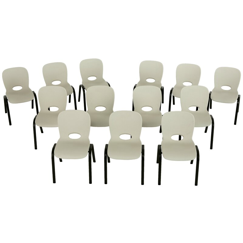Lifetime Armless Contemporary Childrens Stacking Chair