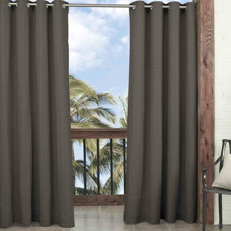 parasol key largo solid blackout thermal outdoor grommet single