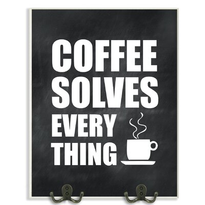 Stupell Industries Coffee Solves Everything Kitchen Textual Art ...