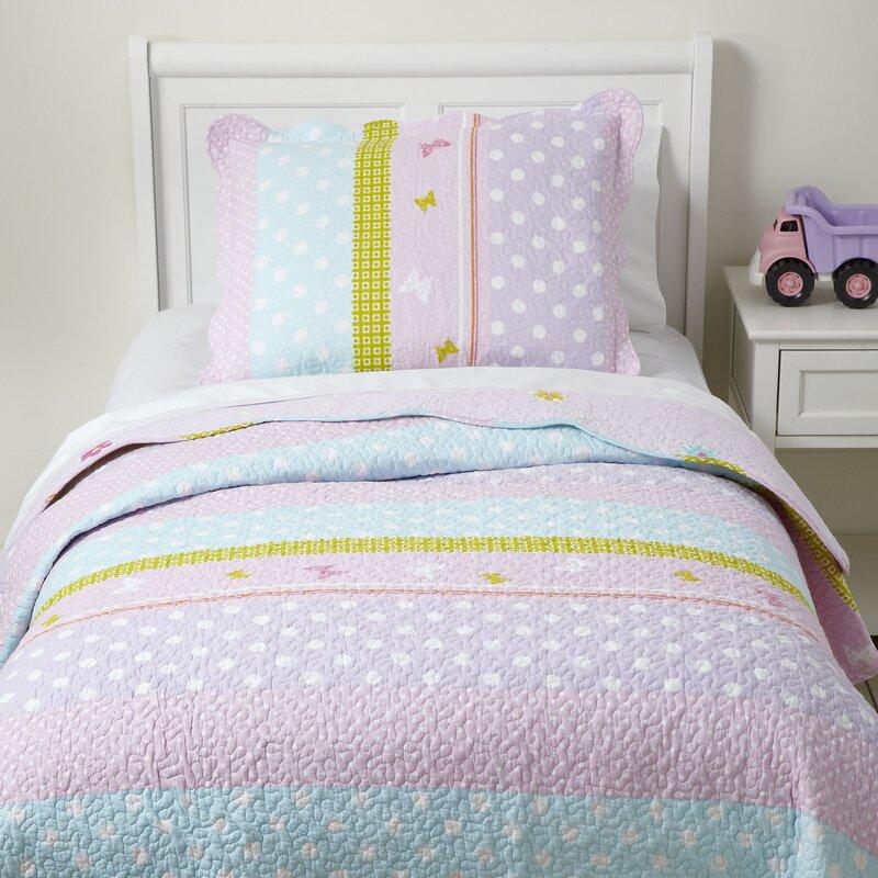 Birch Lane Kids Pretty Polka Quilted Bedding Set