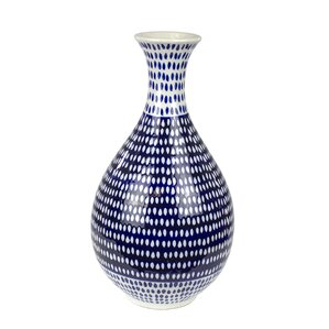 Blue/White Eclectic Ceramic Table Vase