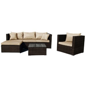 Fryar 6-Piece Sectional Seating Group with Cushion