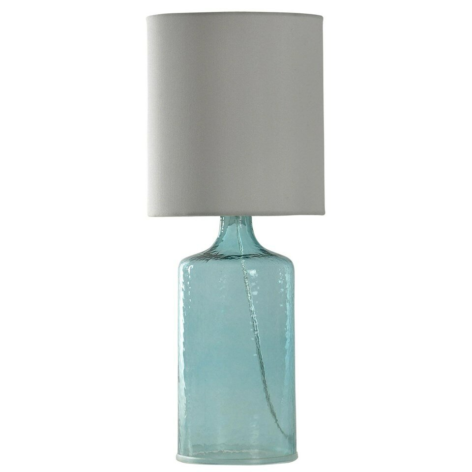 Seeded Glass Table Lamp With Drum Shade Reviews Joss Main