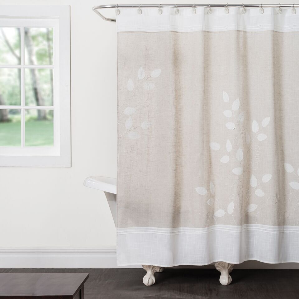 Saturday Knight Forest Path Shower Curtain  Reviews Wayfair - Beige and gray shower curtain