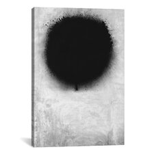 Modern a Negative Sun Graphic Art on Canvas