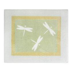 Green Dragonfly Dreams Collection Floor Area Rug
