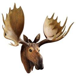 Design Toscano Alaskan Moose Trophy Wall Décor  Reviews Wayfair - Moose wall decor