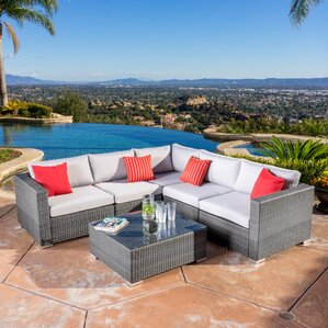 Strawn 6 Piece Sectional Seating Group With Cushion