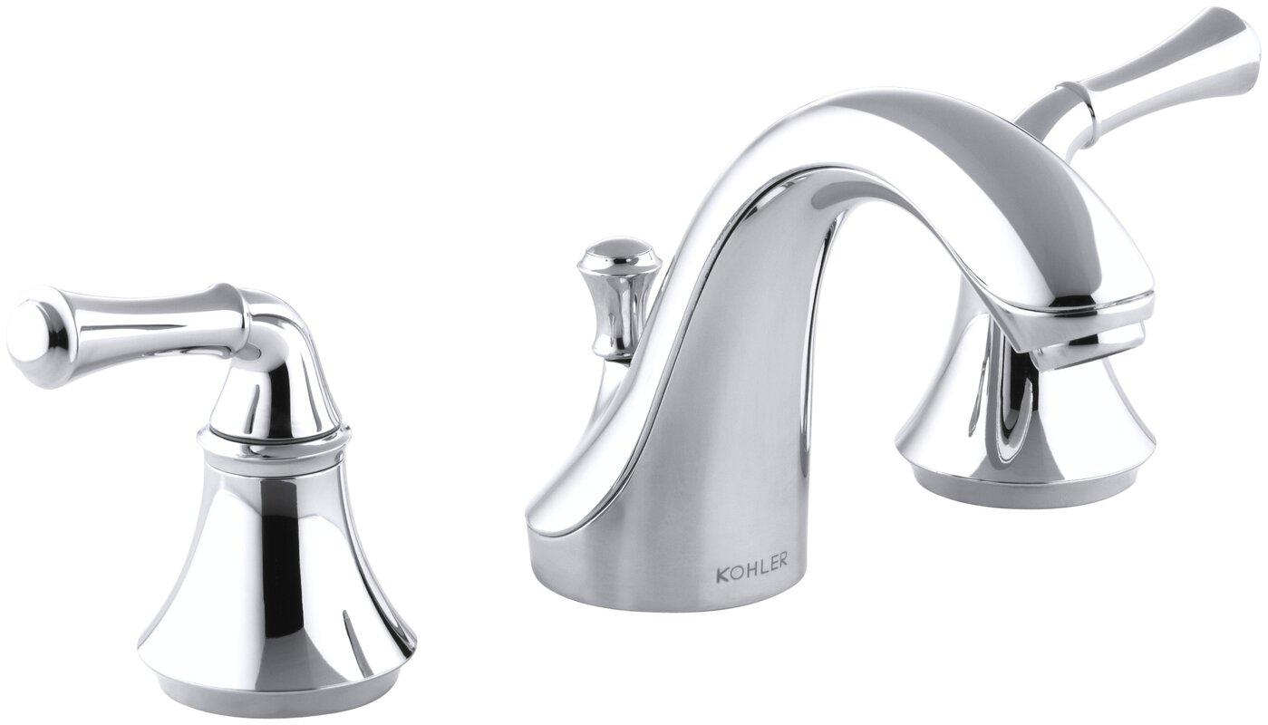 Kohler fort widespread bathroom sink faucet with for Kohler bathroom sink faucets widespread