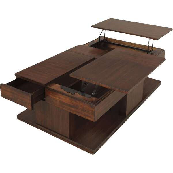 darby home co dail coffee table with double lift-top & reviews