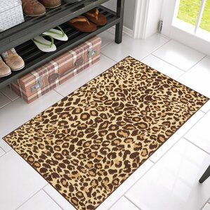 Superior Emeline Cocoa Leopard Brown Area Rug