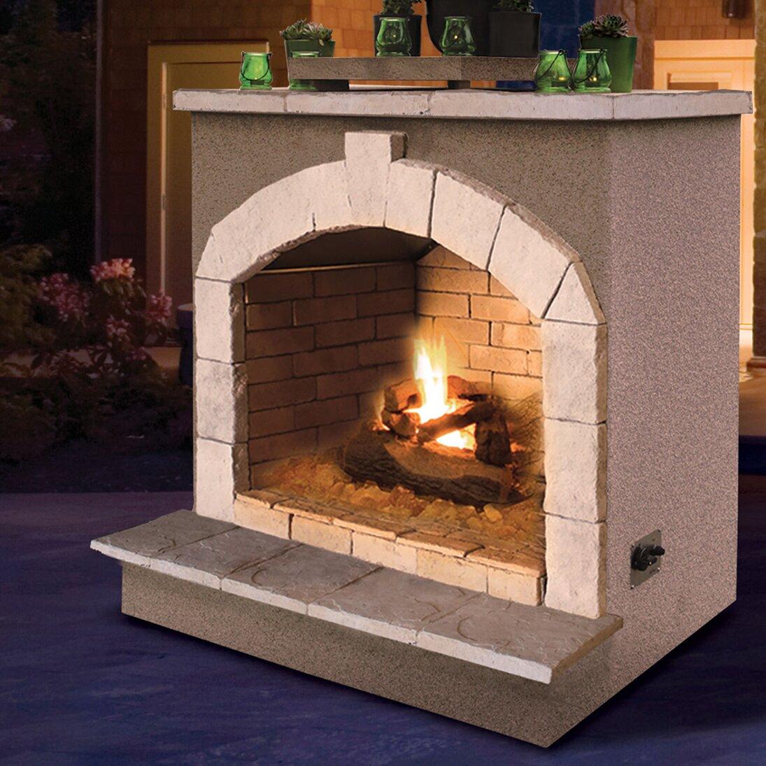 CalFlame Propane Gas Outdoor Fireplace & Reviews