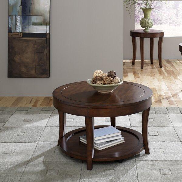 darby home co locke 3 piece coffee table set & reviews | wayfair