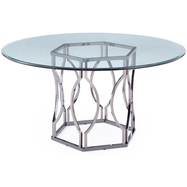 Mercer41™ Viggo Round Glass Dining Table U0026 Reviews | Wayfair