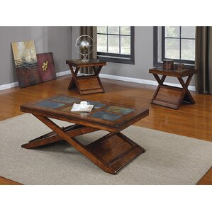 Slate  Stone Coffee Table Sets Youll Love Wayfair - Coffee table end table set