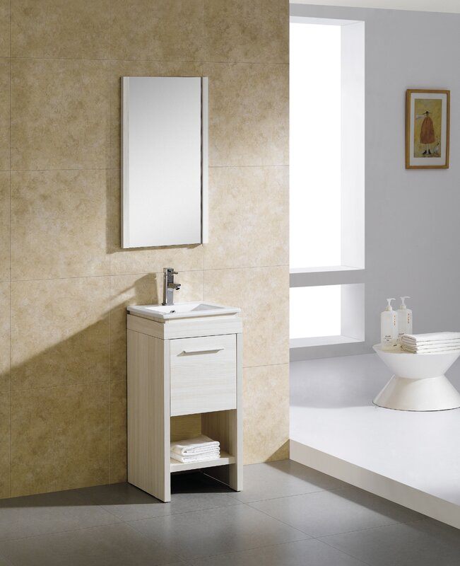 "fine fixtures modena 16"" single bathroom vanity set & reviews"
