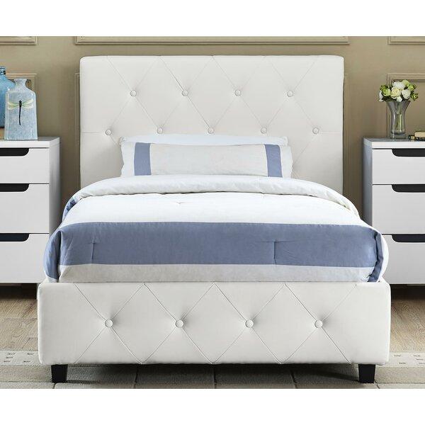 andover mills salina upholstered platform bed reviews wayfair - Upholstered Platform Bed Frame