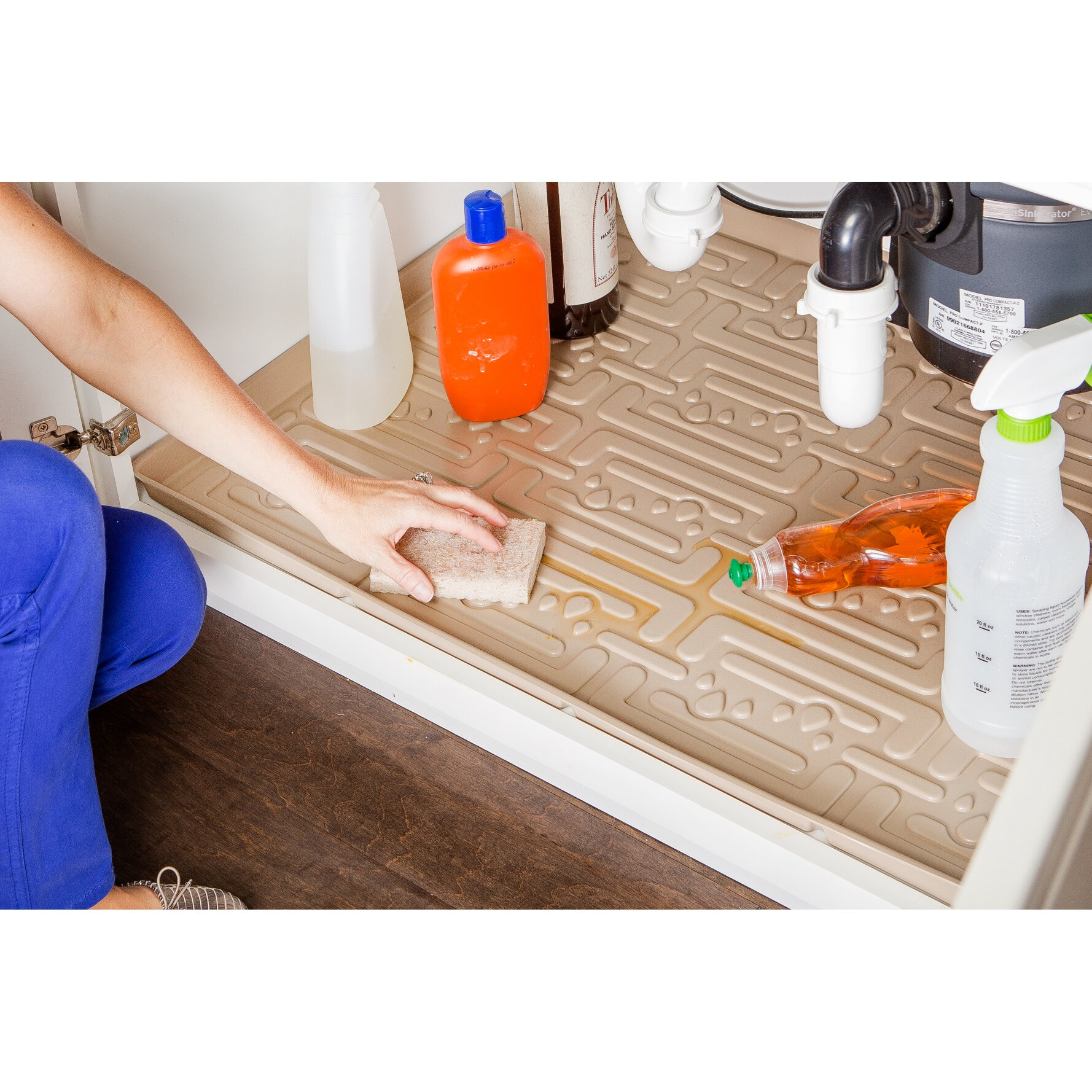 Xtreme Mats Under Sink Bathroom Cabinet Drip Tray