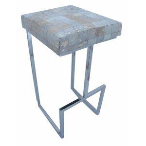 Cowhide/Stainless Steel 75cm Bar Stool