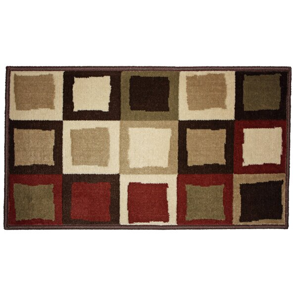 J&M Home Fashions Buffalo Border Woven Kitchen Mat