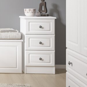 Hampshire 3 Drawer Bedside Table