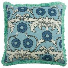 """Scroll 22"""" Linen Throw Pillow"""