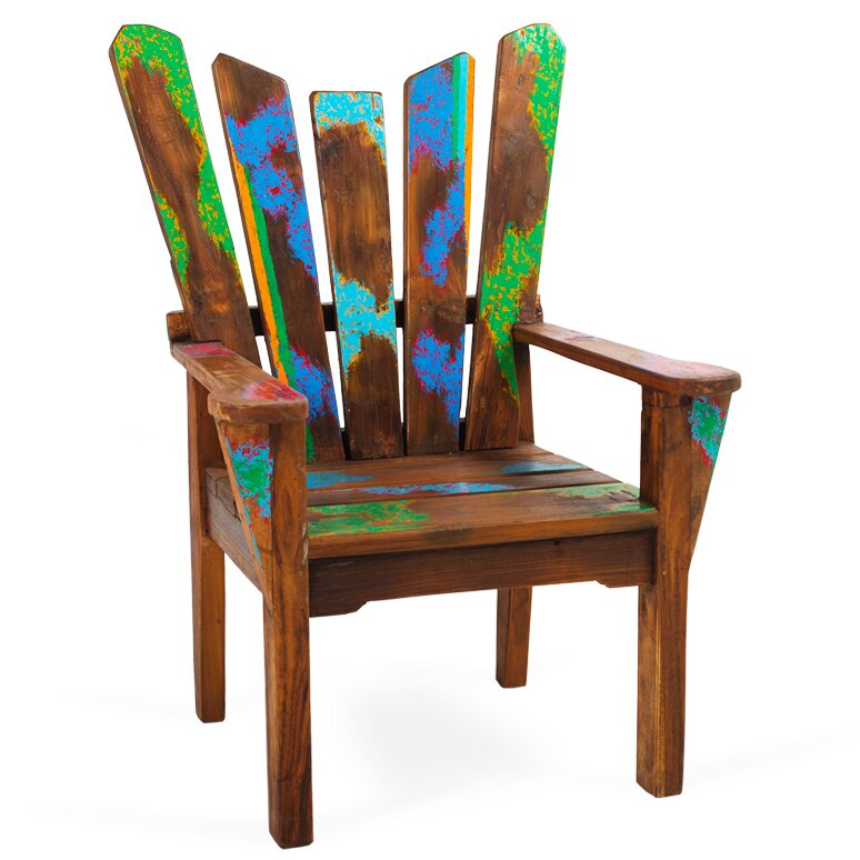 Dock Holiday Reclaimed Wood Arm Chair - EcoChic Lifestyles Dock Holiday Reclaimed Wood Arm Chair Wayfair