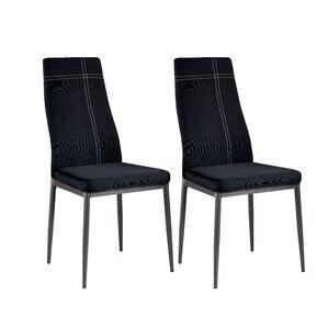 Lovely Cerise Modern Wood Upholstered Dining Chair (Set Of 4)
