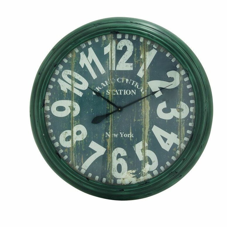 Cole grey oversized metal 37 wall clock Oversized metal wall clocks