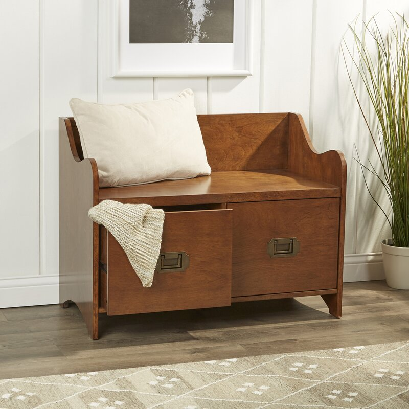 Edwards 2 Drawer Storage Bench Amp Reviews Birch Lane
