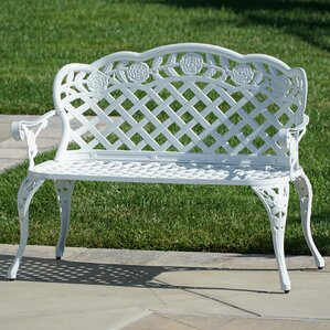 Newfield Outdoor Metal Garden Bench