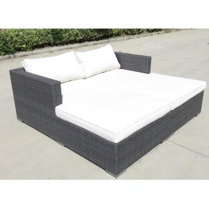 Palermo Double Sun Lounger with Cushions