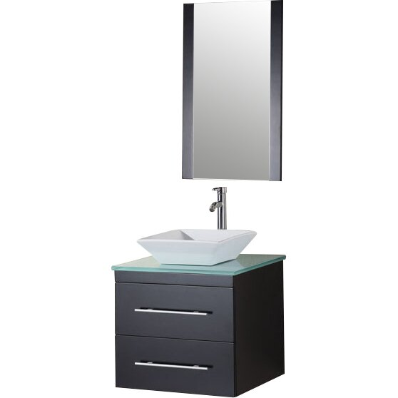 "Brayden Studio Newcastle 24"" Single Bathroom Vanity Set With Mirror & Reviews"