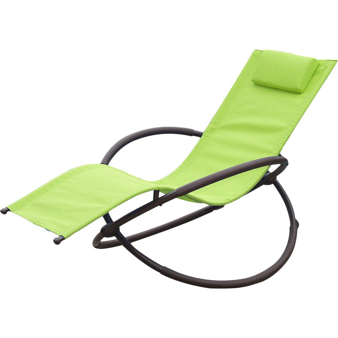 Belleze Orbital Chaise Lounge with Cushion & Reviews | Wayfair