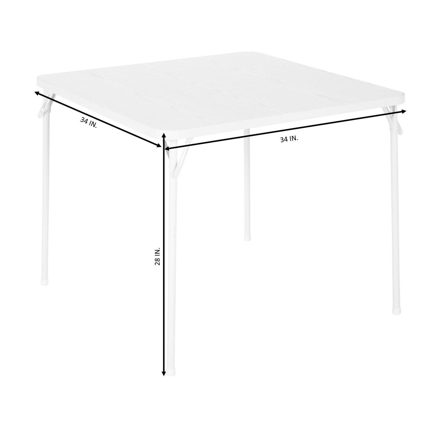 Square folding tables - 34 Square Folding Table