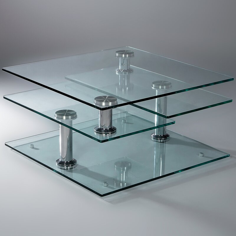 creative images international motion glass coffee table & reviews