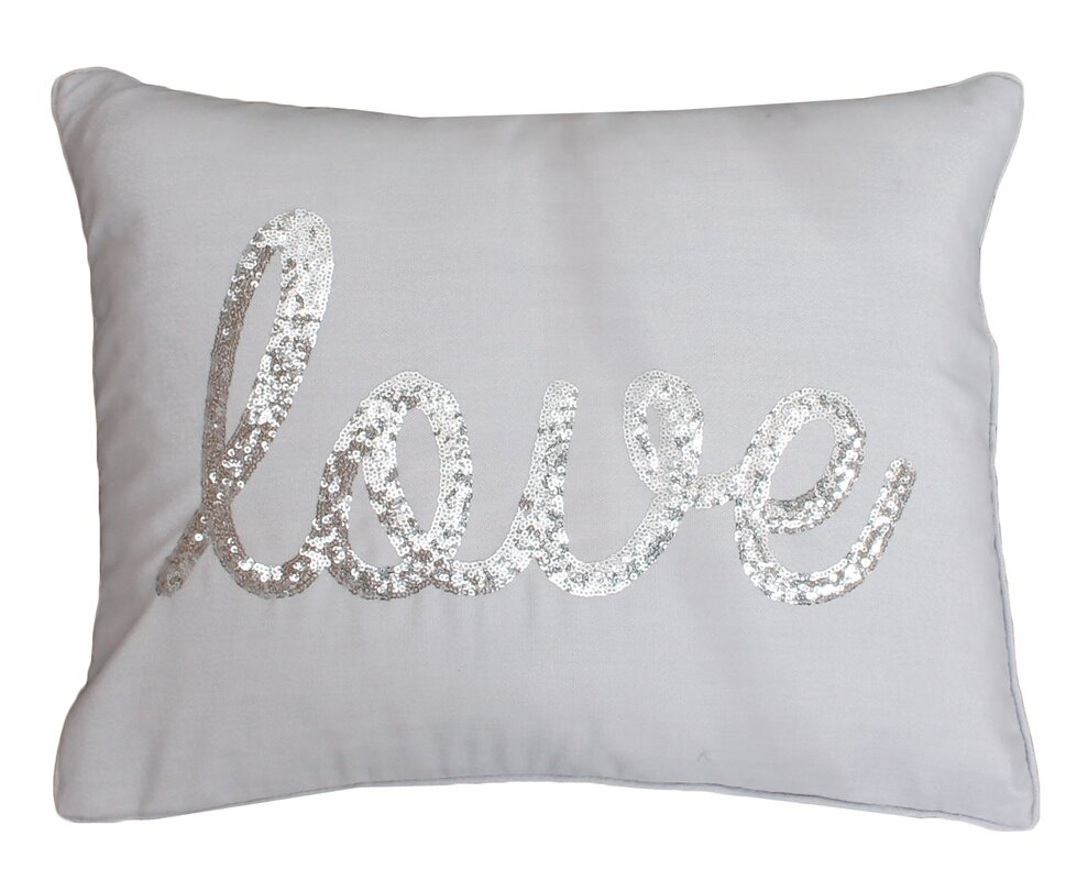 thro by marlo lorenz decorative pillows you'll love  wayfair - love sequin lumbar pillow