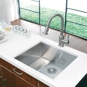 alma 23 inch undermount 16 gauge stainless steel kitchen sink. beautiful ideas. Home Design Ideas
