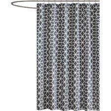 Yeats Cotton Shower Curtain